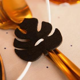 Декор для салфетки 'Тропики' 5,8 х 6,6 см, 100% п/э, фетр Ош