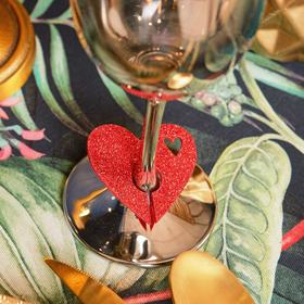 Декор для бокала 'Love' 5,5 х 5 см, 100% п/э, фетр Ош
