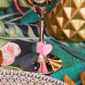 """Декор для бокала """"Love"""" 4 шт, 7,3 х 2,4 см, 100 % п-э, фетр"""