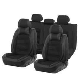 Car seat covers Cartage universal 9D, 15 items, anatomical, PU leather