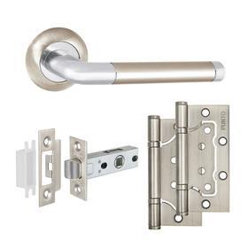 Комплект ручек с защелкой и петлями SET45/A REX TL SN/CP-3 матовый никель/хром