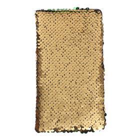 Записная книжка подарочная, формат А6, 80 листов в линейку, пайетки двухцветные золотисто-зеленые