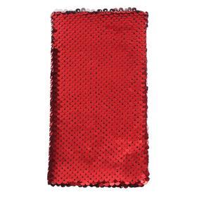 Записная книжка подарочная, формат А6, 80 листов в линейку, пайетки двухцветные красно-серебристые
