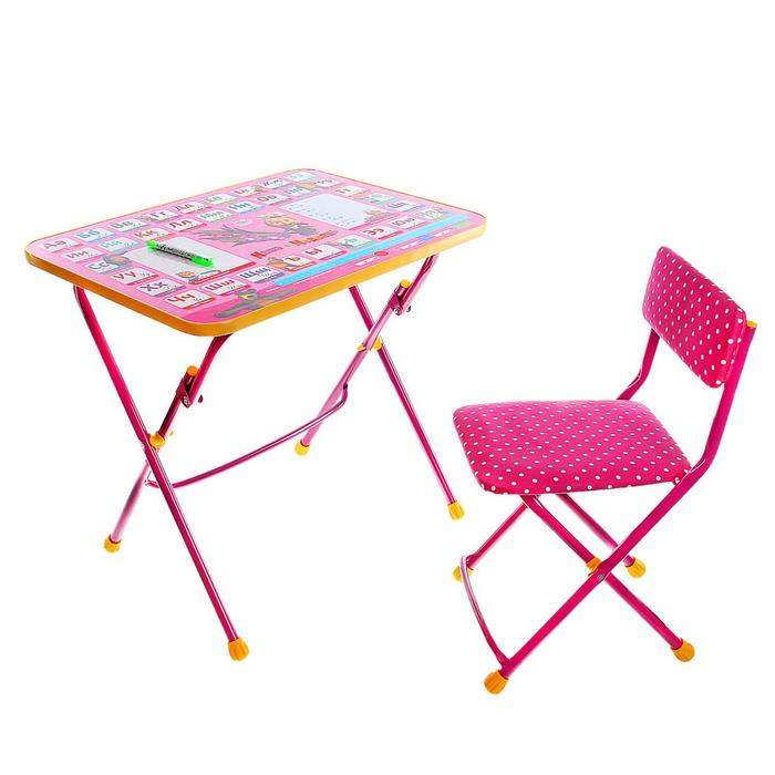 """Набор детской мебели """"Маша и медведь. Азбука-3"""" складной, цвет розовый"""