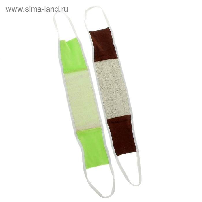 Мочалка длинная с ручками, цвет МИКС