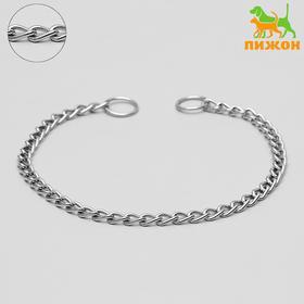 Ошейник-удавка металлический однорядный, 50 см, толщина проволоки 2,5 мм