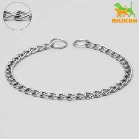 Ошейник-удавка металлический однорядный, 60 см, толщина проволоки 3,5 мм