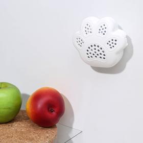 Поглотитель запаха для холодильника «Лапка», 10×8,5×3 см, цвет МИКС