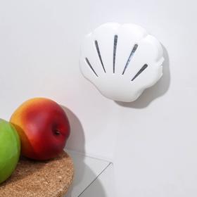 Поглотитель запаха для холодильника «Ракушка», 9,5×8,5×3 см, цвет МИКС