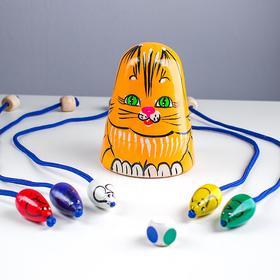 Игра детская «Кошки-мышки» рыжая кошка