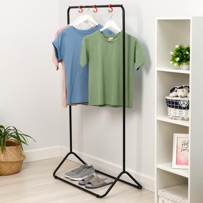 Вешалка гардеробная «Радуга-3», 82,5×42×150 см, цвет чёрный
