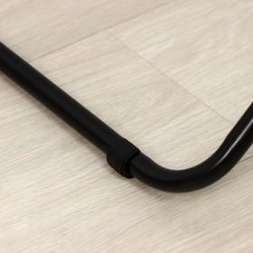 Вешалка гардеробная «Радуга 3», 82,5×42×150 см, цвет чёрный - фото 4639862