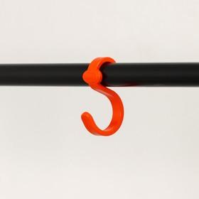 Вешалка гардеробная «Радуга 3», 82,5×42×150 см, цвет чёрный - фото 4639863