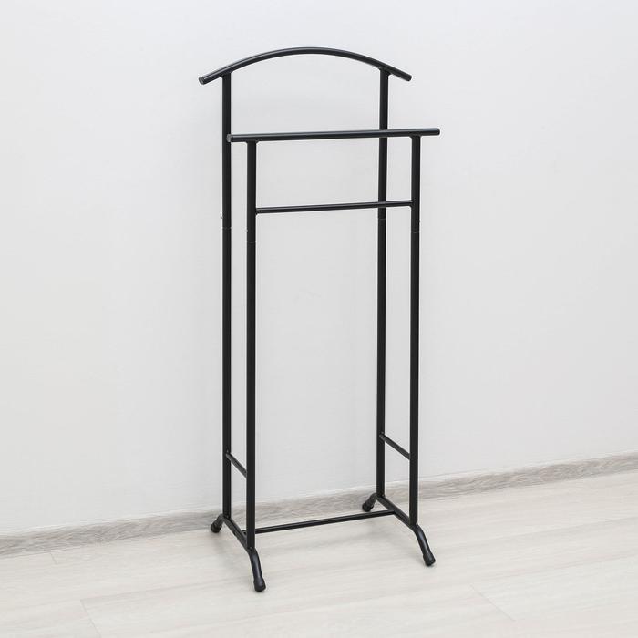 Вешалка гардеробная «Стиль-3», 47×34,8×108 см, цвет чёрный