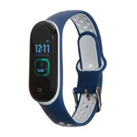 """Фитнес-браслет Smarterra Fitmaster TON, 0.96"""", TFT, IP65, NFC, 90 мАч, сине-белый"""
