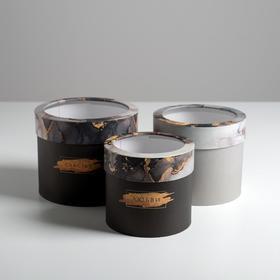 Набор коробок с PVC-окном 3 в 1 «Любви», 14 х 14 х 13 - 18 х 18 х 15 см