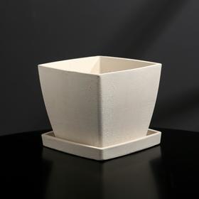 {{photo.Alt || photo.Description || 'Кашпо-квадрат из гипса с поддоном «Классика», цвет белый, 11 × 11 см'}}