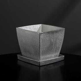 {{photo.Alt || photo.Description || 'Кашпо-квадрат из гипса с поддоном «Классика», цвет серебряный, 11 × 11 см'}}