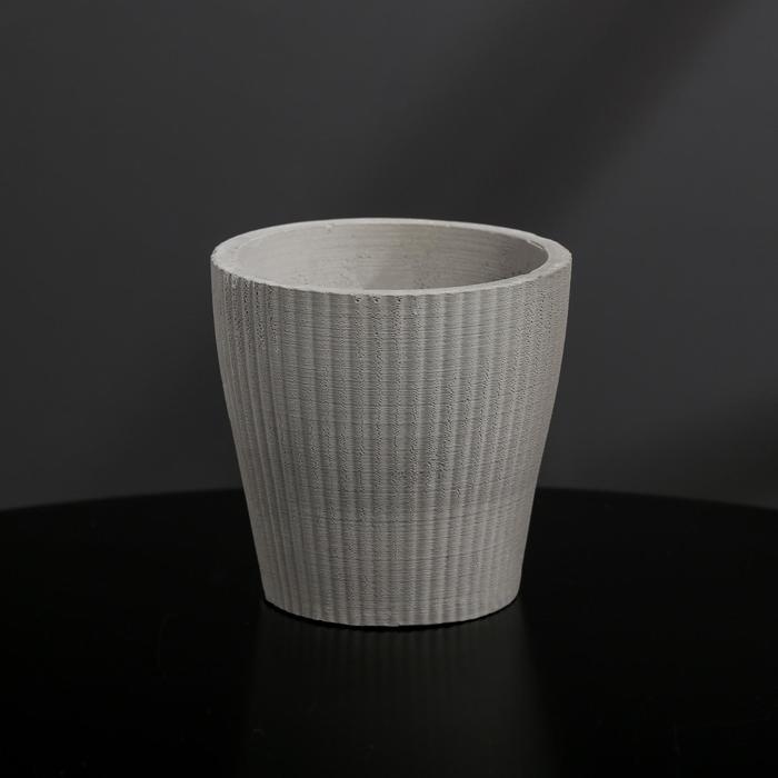 Кашпо из гипса «Красота», цвет серый, 9 × 8 см