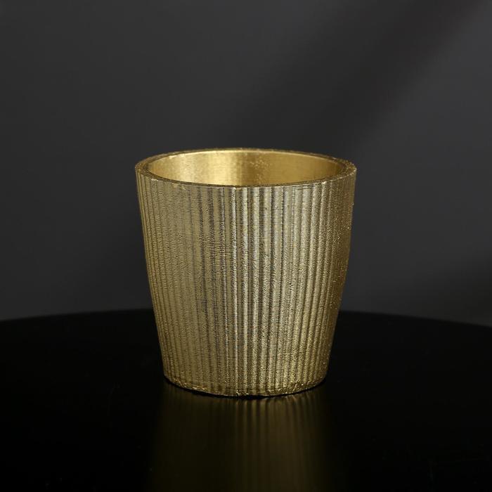 Кашпо из гипса «Красота», цвет золотой, 9 × 8 см