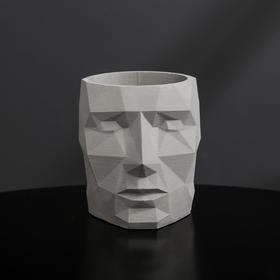 {{photo.Alt || photo.Description || 'Кашпо полигональное из гипса «Голова», цвет серый, 7.5 × 9 см'}}