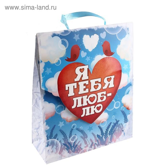 Пакет ламинат конверт «Я тебя люблю», ML 23 х 27 х 8 см