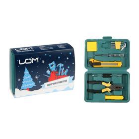 Набор инструментов в кейсе LOM 'С Новым Годом', подарочная упаковка, 11 предметов Ош