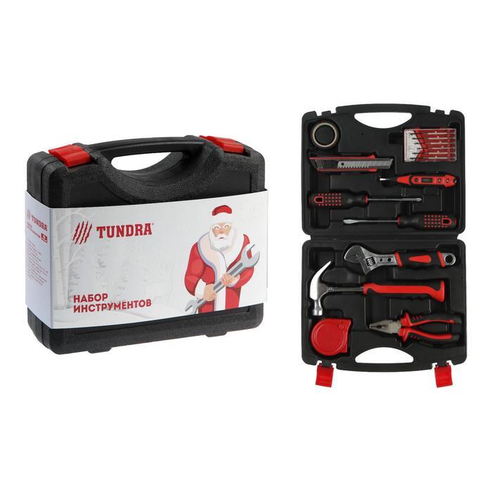"""Набор инструментов в кейсе TUNDRA """"С Новым Годом"""", подарочная упаковка, 15 предметов"""