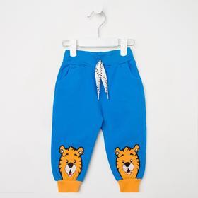 Штанишки детские, цвет голубой, рост 74 см (9 мес.)