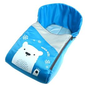 Сиденье для санок, цвет голубой, рисунок с медвежонком СС3-1/ГМ2