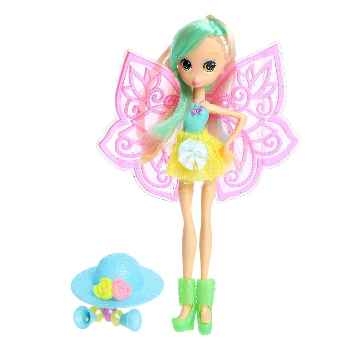 Кукла сказочная «Бабочка» в платье, МИКС - фото 333176