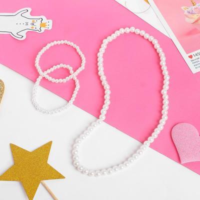 """Children set """"Vibracula"""" 2 pieces: necklace, bracelet, beads"""