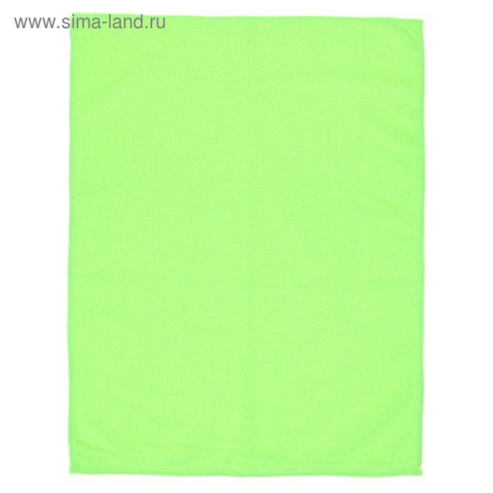 Салфетка для уборки гладкая, 30х40 см, цвет МИКС