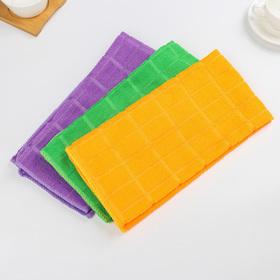 """Тряпка для мытья пола 50×70 см """"Клетка"""", цвет МИКС - фото 1717169"""