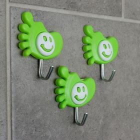 "A set of hooks on the Velcro ""Leg-smiley"", 3 PCs, MIX color"