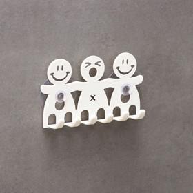 Держатель для зубных щёток на присосках, дизайн МИКС