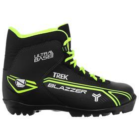 Ботинки лыжные TREK Blazzer1 NNN черный (лого лайм неон) (р.35)