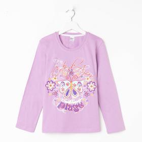 Лонгслив для девочки, цвет лиловый, рост 152 см (12)