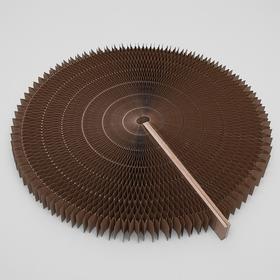 Когтеточнка-лежанка, двухсторонняя, раздвижная, диаметр 52 см