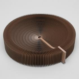 Когтеточка-лежанка, раздвижная, с выемкой 2 в 1, диаметр 54 см