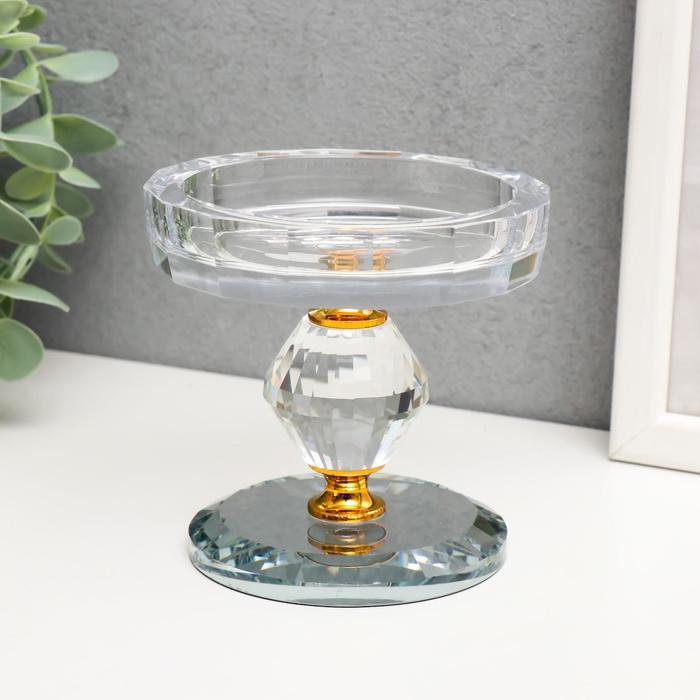 """Подсвечник стекло на 1 свечу """"Кристалл ромб"""" 9,5х9х9 см - фото 282124686"""