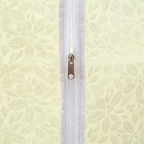 Чехол для одежды Доляна «Фло», 60×120 см, цвет бежевый - фото 4640299