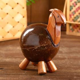 """Сувенир копилка из кокоса """"Козлик"""" 15х13х20 см"""