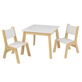Детский игровой набор стол и 2 стула «Модерн», цвет белый
