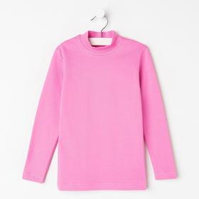 Водолазка для девочки, цвет розовый, рост 92 см
