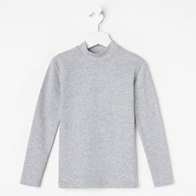 Водолазка для мальчика, цвет серый меланж, рост 122 см