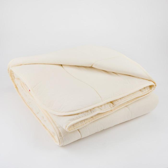 Одеяло Царские сны Овечья шерсть 172х205 см, сливочный, перкаль (хлопок 100%), 200г/м2 - фото 61641