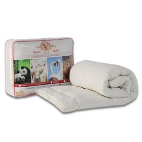 Одеяло Царские сны Овечья шерсть 172х205 см, сливочный, перкаль (хлопок 100%), 200г/м2 - фото 61645