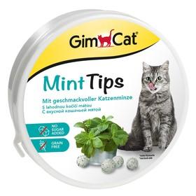 Витаминное лакомство Gim Cat для кошек, МинтТипс, 200 г