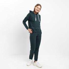 Костюм женский (толстовка, брюки) 3355 цвет зелёный, р-р 48